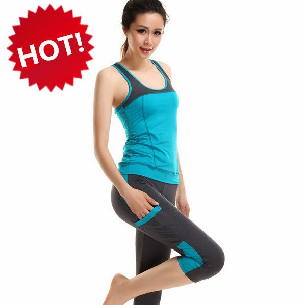 Cheap clothing europe, Buy Quality clothes for the baby directly from China clothes used Suppliers: Vest Leggings Pants Dance Running Gym Workout Wear Clothes Fitness Clothing Women's Training Suit Sports Sportswear Yoga
