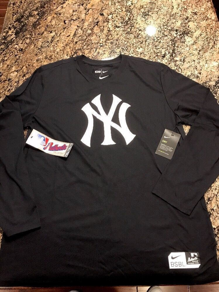 new product ad793 e3f8c Nike New York Yankees Dri Fit Long Sleeve Sz 2XL Stanton ...