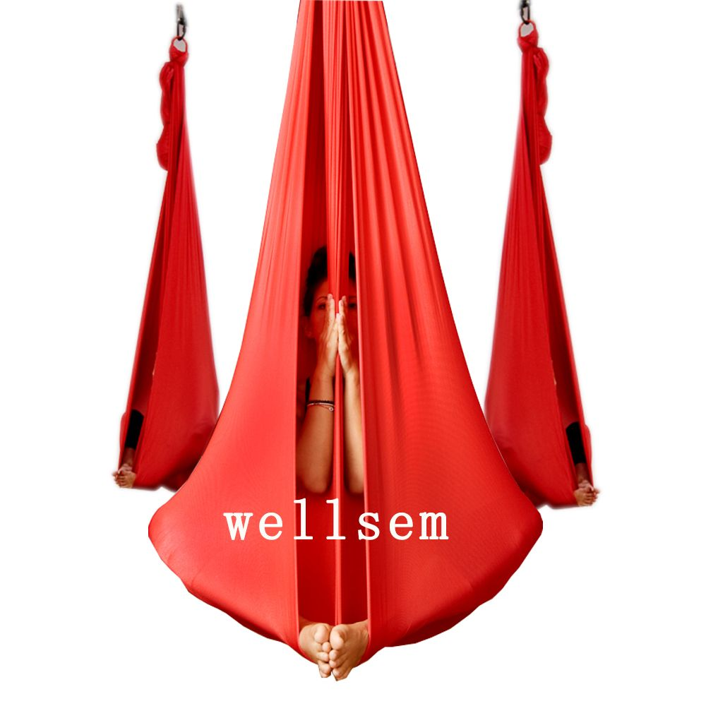 Medium image of check price yoga flying swing anti gravity yoga hammock fabric aerial traction device yoga hammock