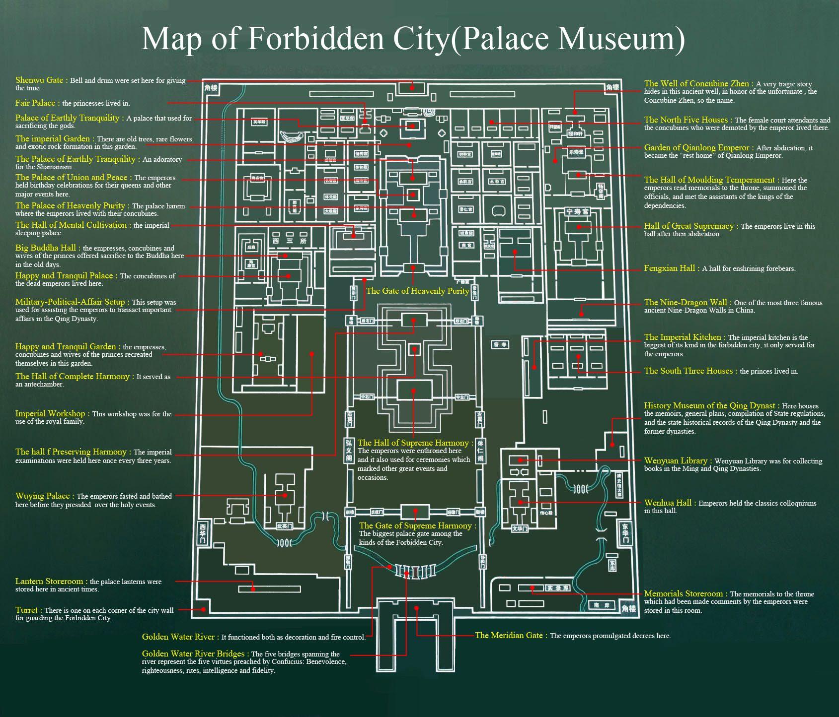 Beijing Forbidden City Tourist Map Www Westchinago Com Forbidden City Beijing Map City Travel