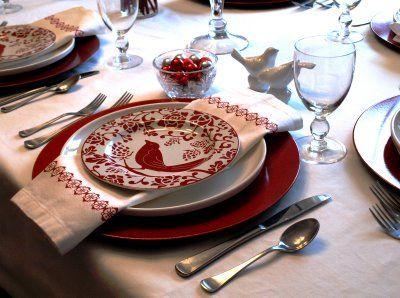 christmas table setting - Dish