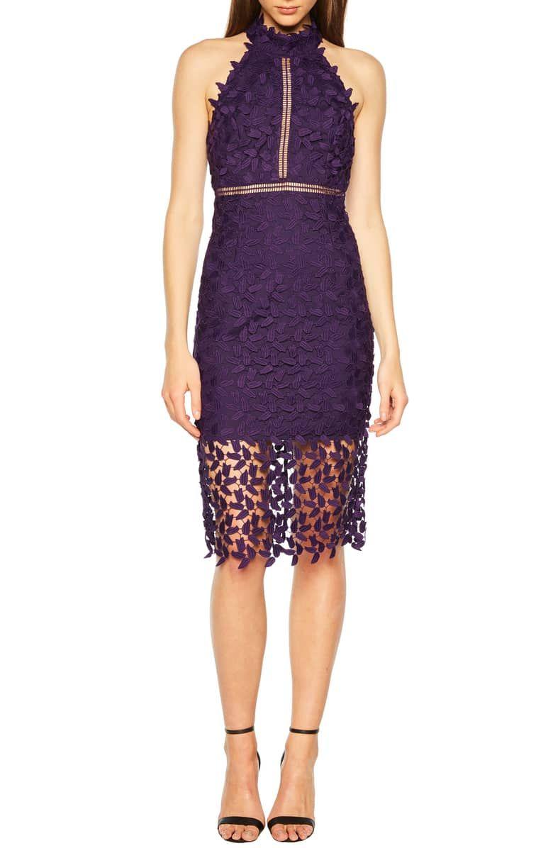 Bardot Gemma Halter Lace Sheath Dress Nordstrom Dresses