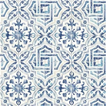 3117 12332 Sonoma Blue Spanish Tile Wallpaper By Chesapeake