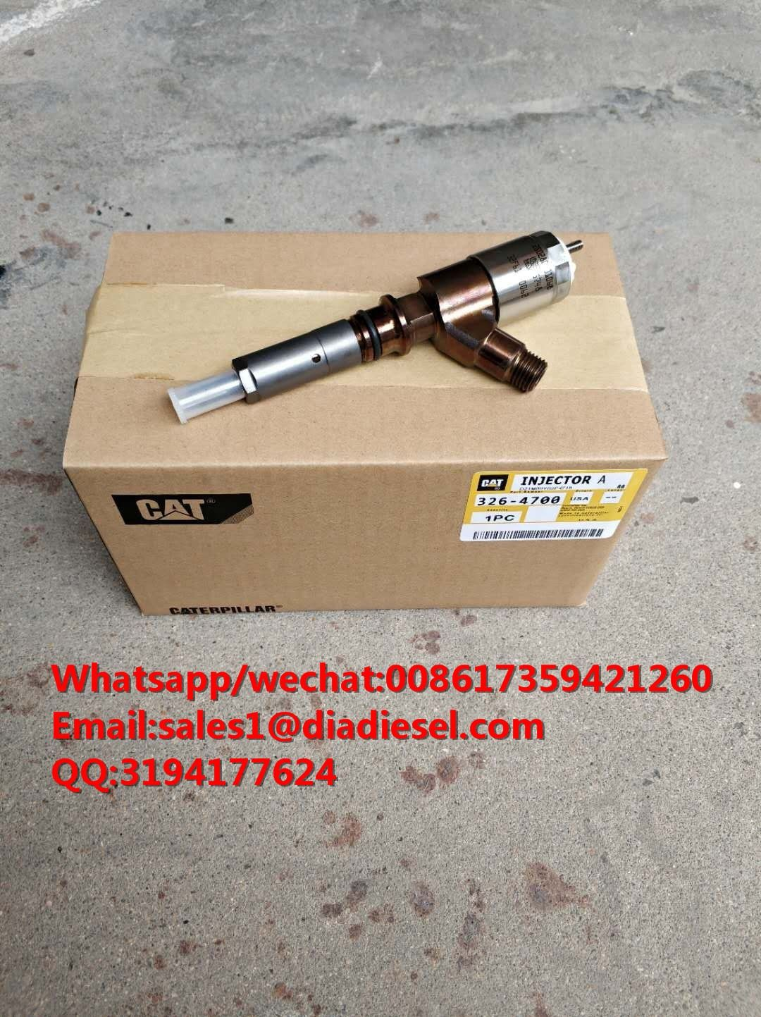 Diesel Fuel Injector Assembly 326-4700 For 320D C6 C6.4 engine  Whatsapp/wechat:008617359421260 Email:sales1@diadiesel.com QQ:3194177624