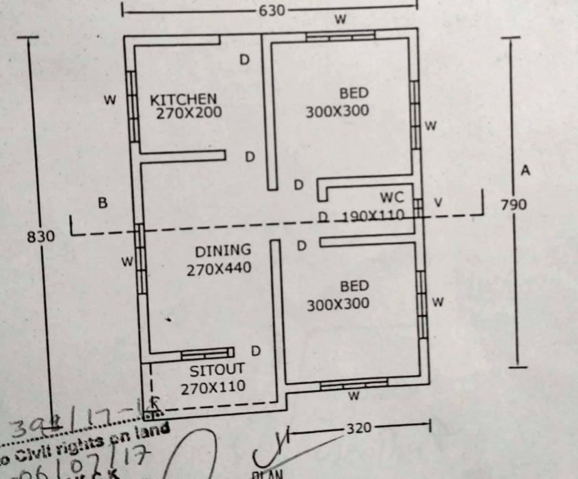 548 Square Feet 2 Bedroom Low Budget House At 3 25 Cent Plot For 5 Lack Home Pictures Eas Small House Front Design Village House Design Indian House Plans Low budget house plan drawing
