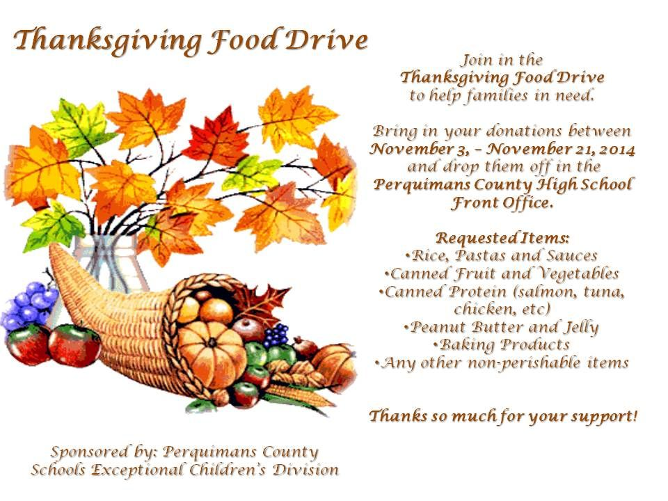 Thanksgiving Food Drive Flyer Created by EyeCarlie Designs