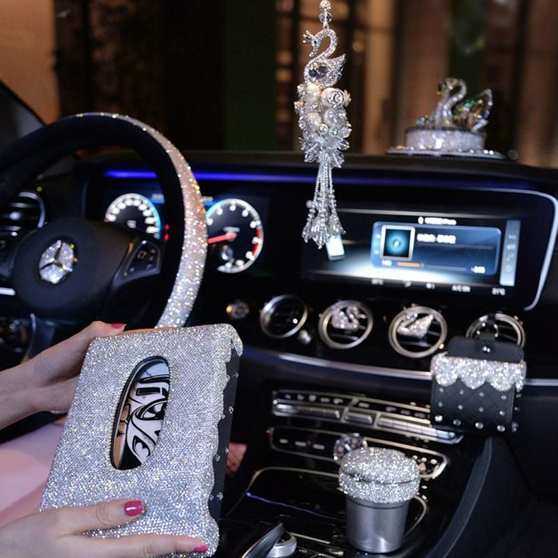 Crystal Diamond Steeringwheelcover Women Girls Car Accessories Rhinestone Ornaments Girly Car Accessories Car Accessories For Girls Cute Car Accessories