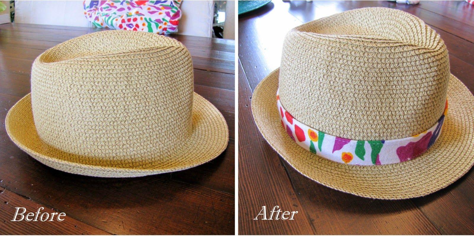 Diy Sew A Hatband Hat Band Sewing Diy Fabric