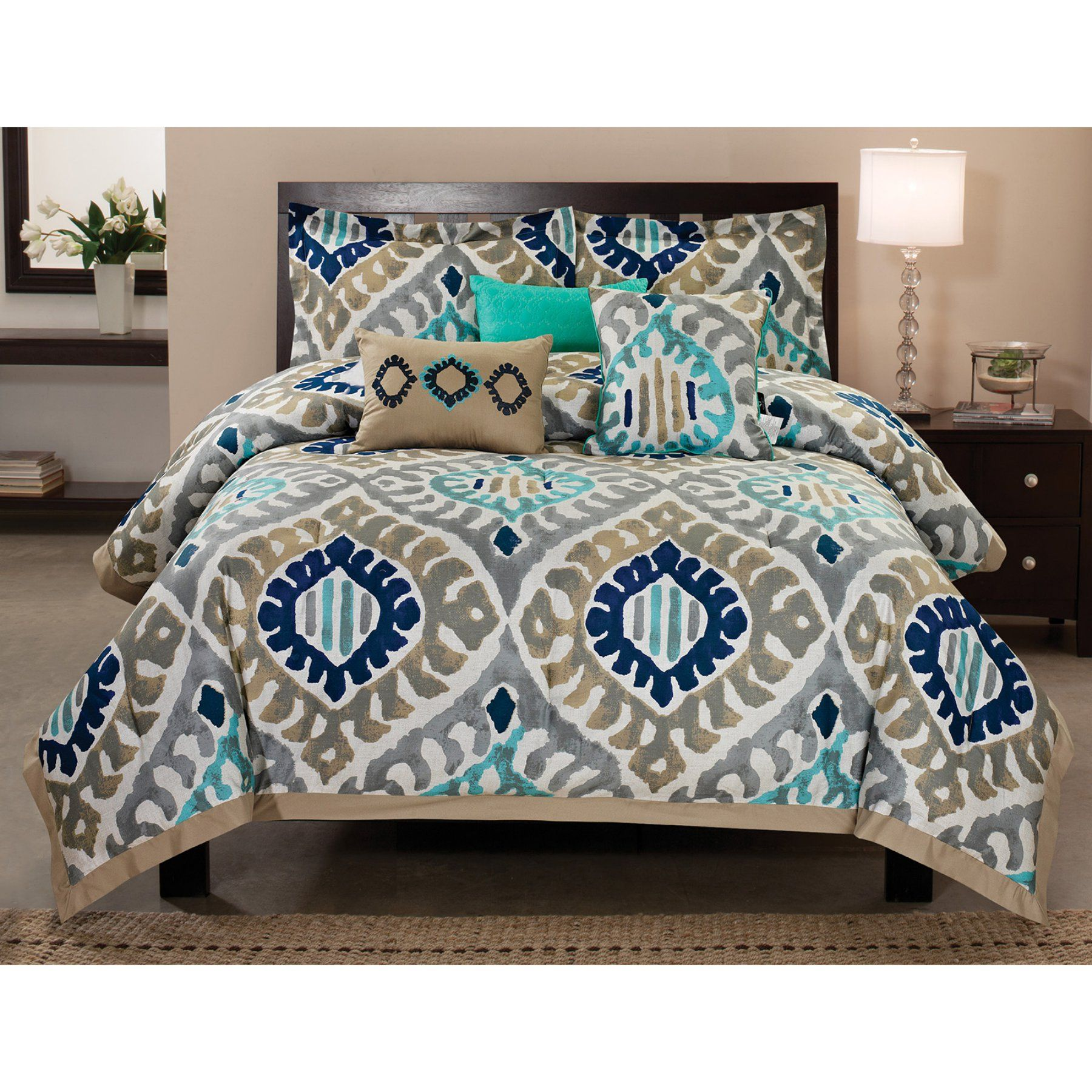 Utopia 6 Piece Cotton Comforter Set By Rt Designers Collection