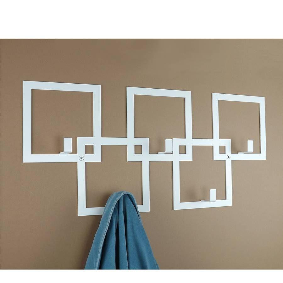 Modern Wall Coat Rack squares coat rack | coats, metals and squares