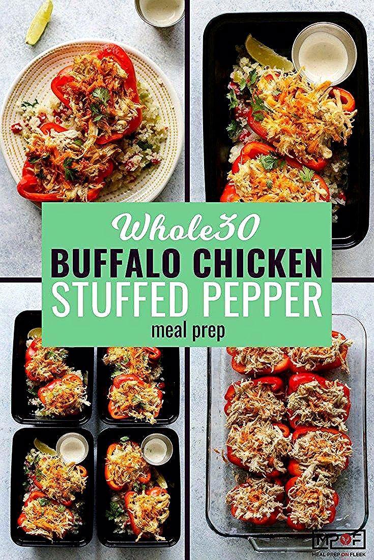 Buffalo Chicken Stuffed Pepper Meal Prep  Essenszubereitung auf Fleek
