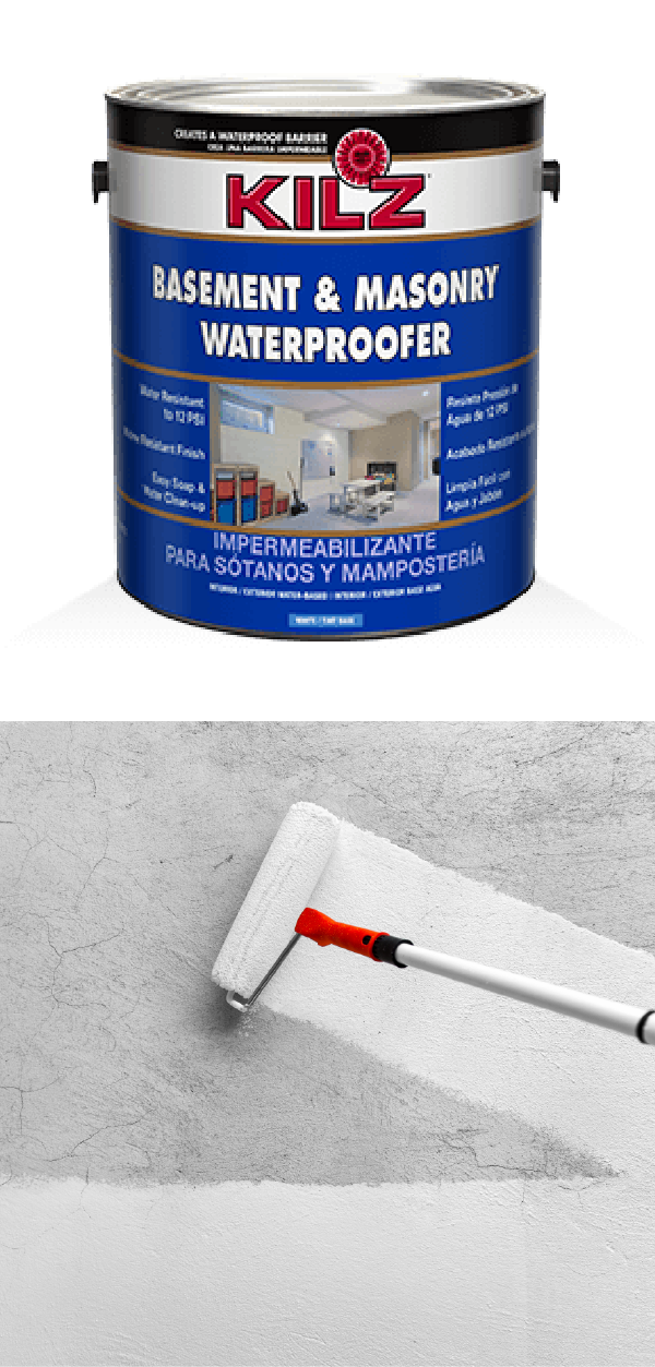 Waterproofing Basement, Kilz For Basement Walls