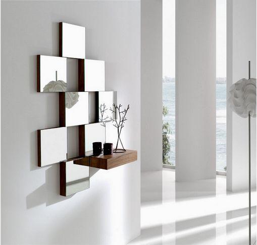 montajes con espejos para decorar recibidores