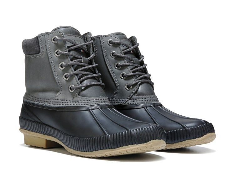 aad4a8835bf2fd Go forth into the elements in the Charlie Waterproof Duck Boot from Tommy  Hilfiger.Leather and rubber upper in a winter duck boot style with a round  toeLace ...