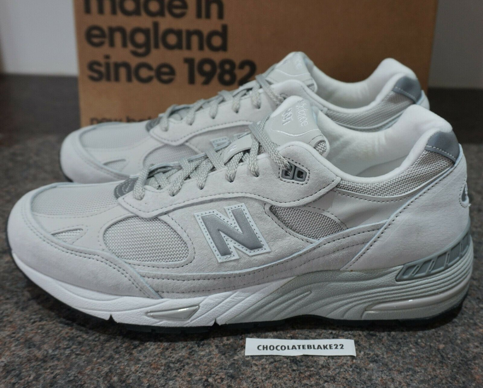 NEW BALANCE M991EKS MADE IN UK ENGLAND BLACK SILVER GREY 991 EKS 990 USA