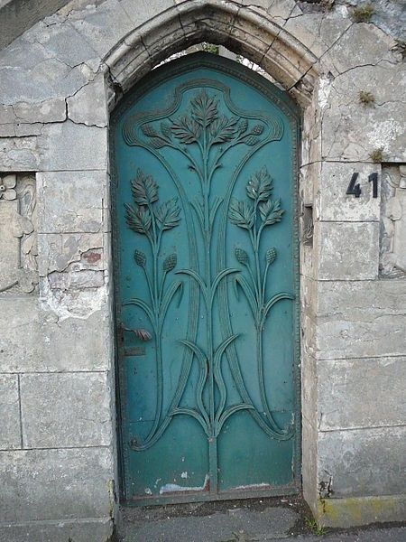 Wheat iron decorative door