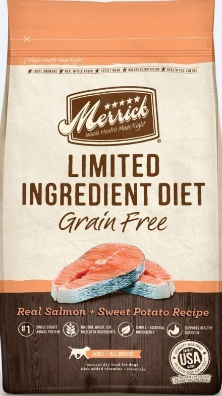 Merrick limited ingredient diet grain free real salmon and sweet merrick limited ingredient diet grain free real salmon and sweet potato recipe dry dog food forumfinder Gallery