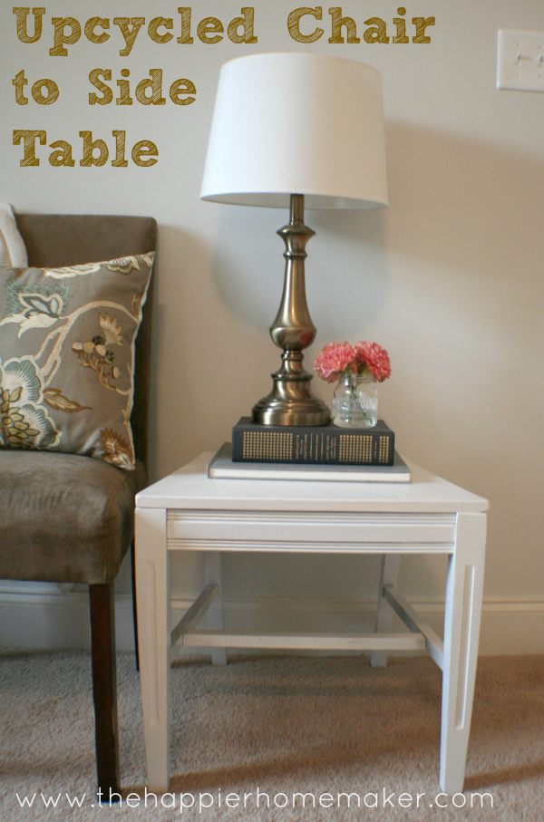 Upcycled Chair to Side Table | Upcycle, Stylish and Repurpose