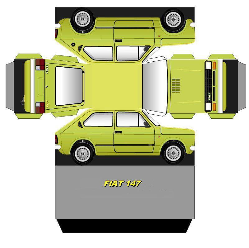 Pin Em Cut Fold And Glue Papercraft Cars