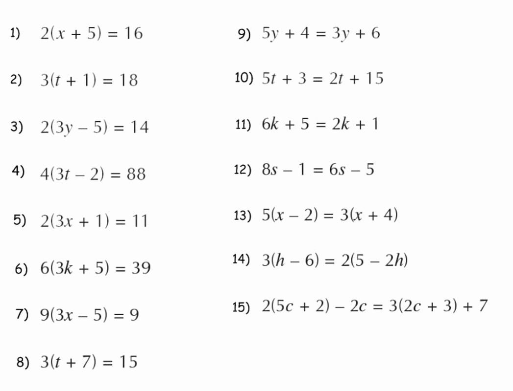 45 Distributive Property With Variables Worksheet In