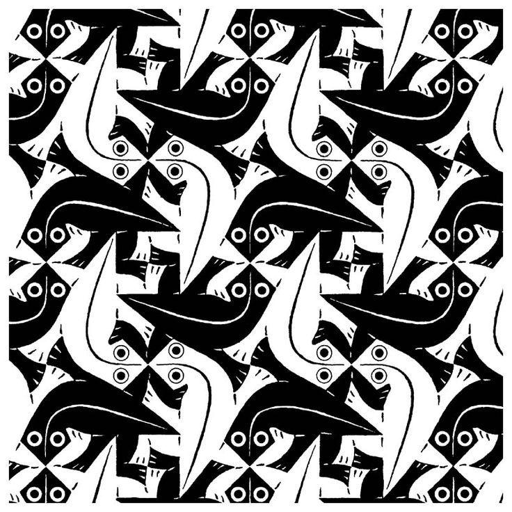 Lizardtessellation 104 Escher