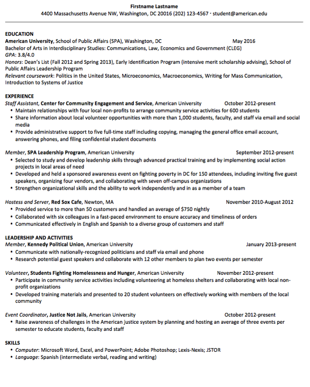 Example Resume for Social Hostess - http://resumesdesign.com/example ...