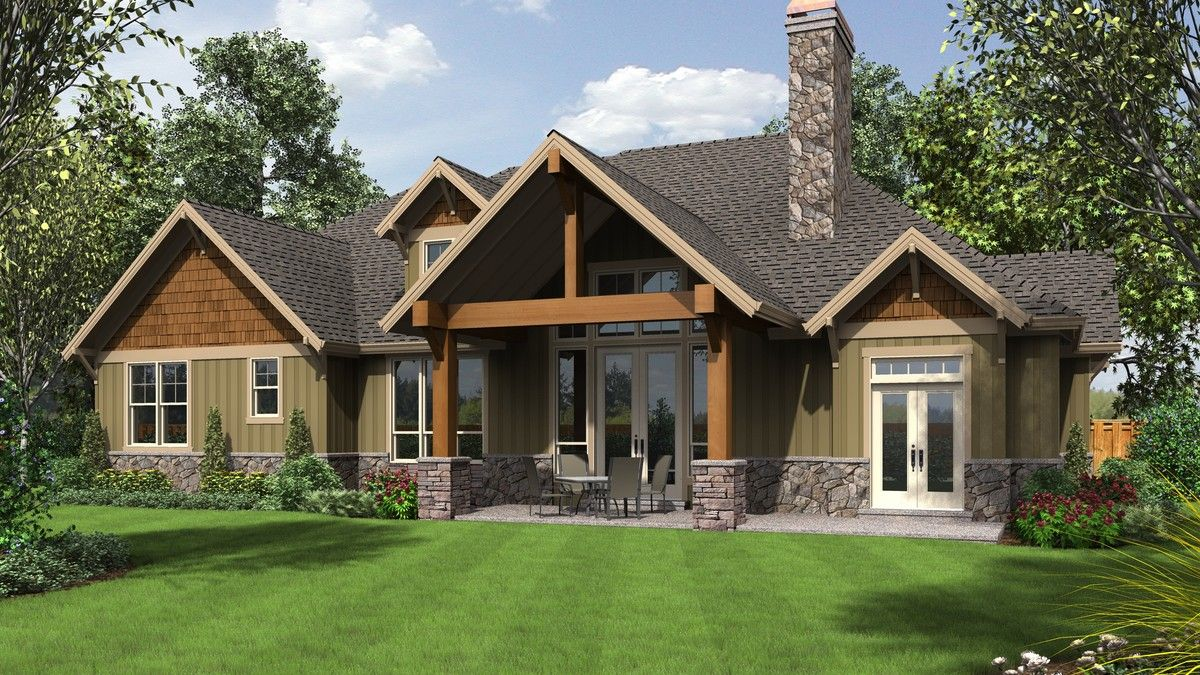 lodge with large master suite and open floor plan plan 22157aa the ashby is a - Patio Style Dream Home Plans