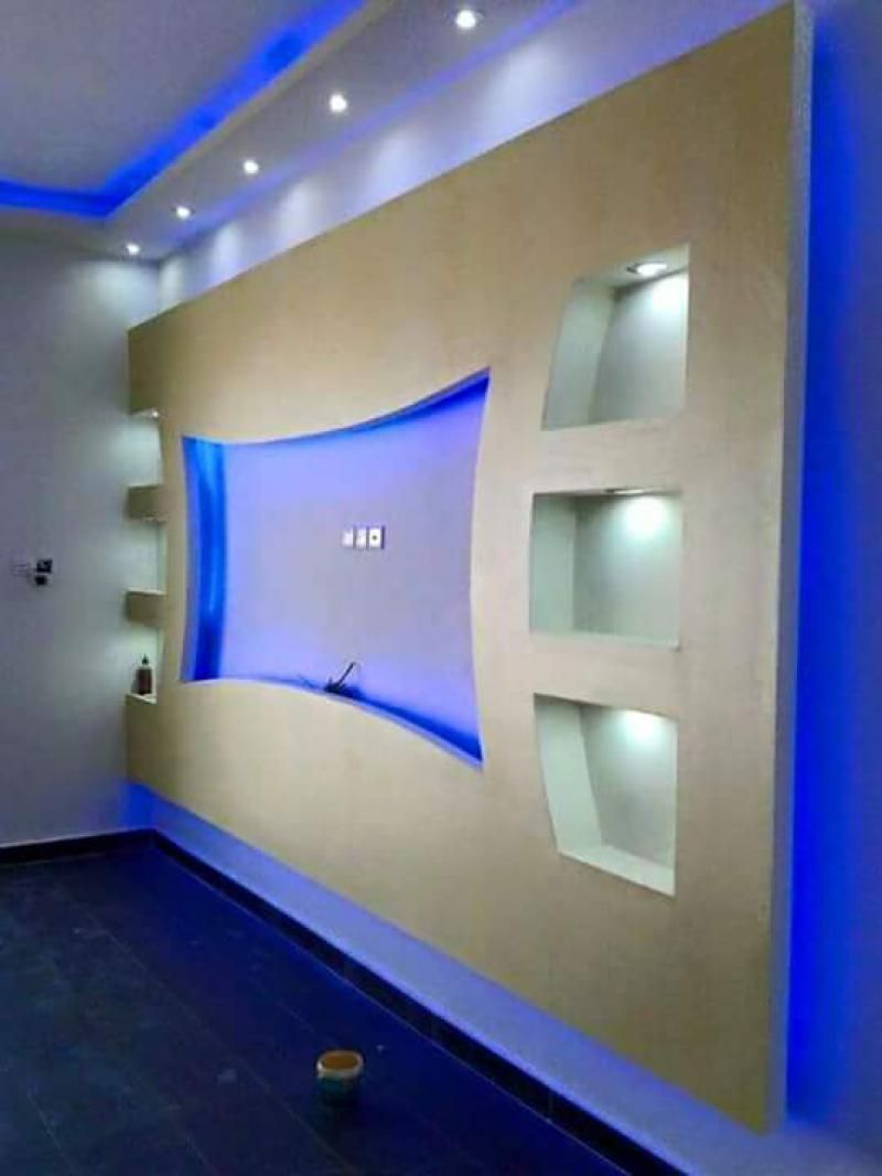 18 Best Tv Wall Units With Led Lighting That You Must See  # Niche Television En Platre