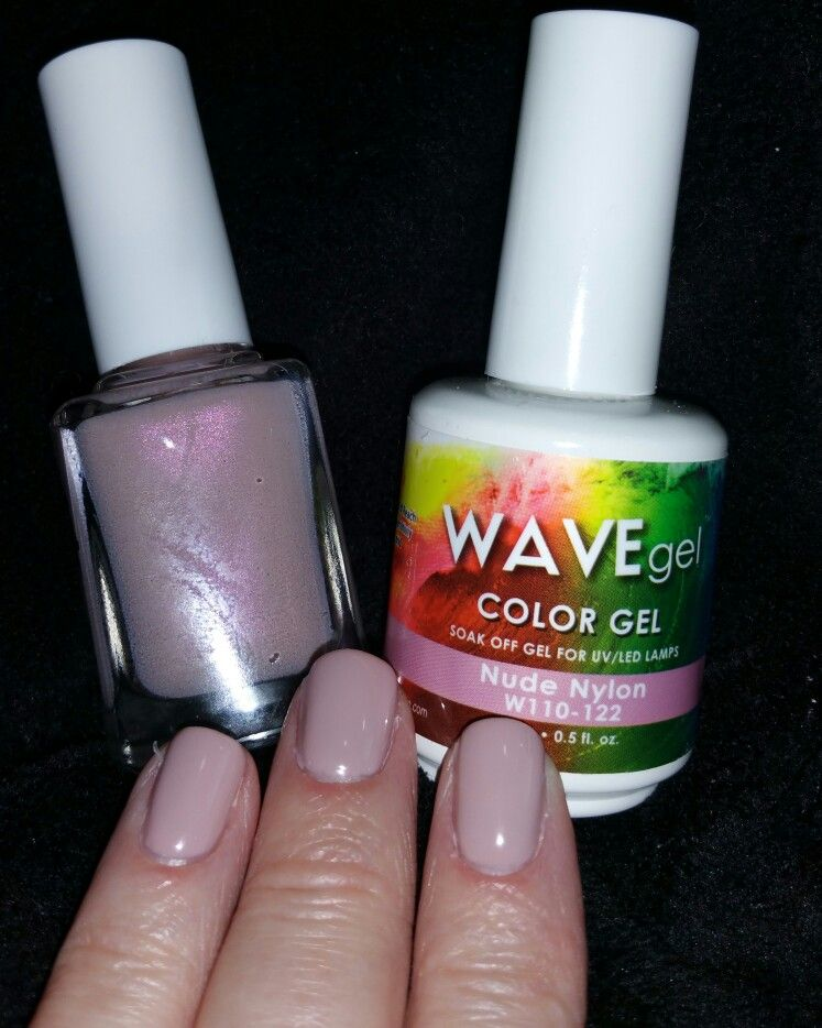 Wavegel gel nail polish nude nylon. This is a beautiful taupe color ...