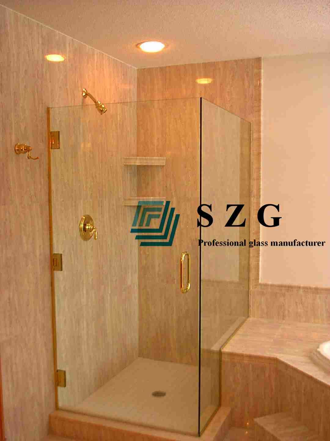 Shower door tempered glass,High quality toughened glass for bathroom ...