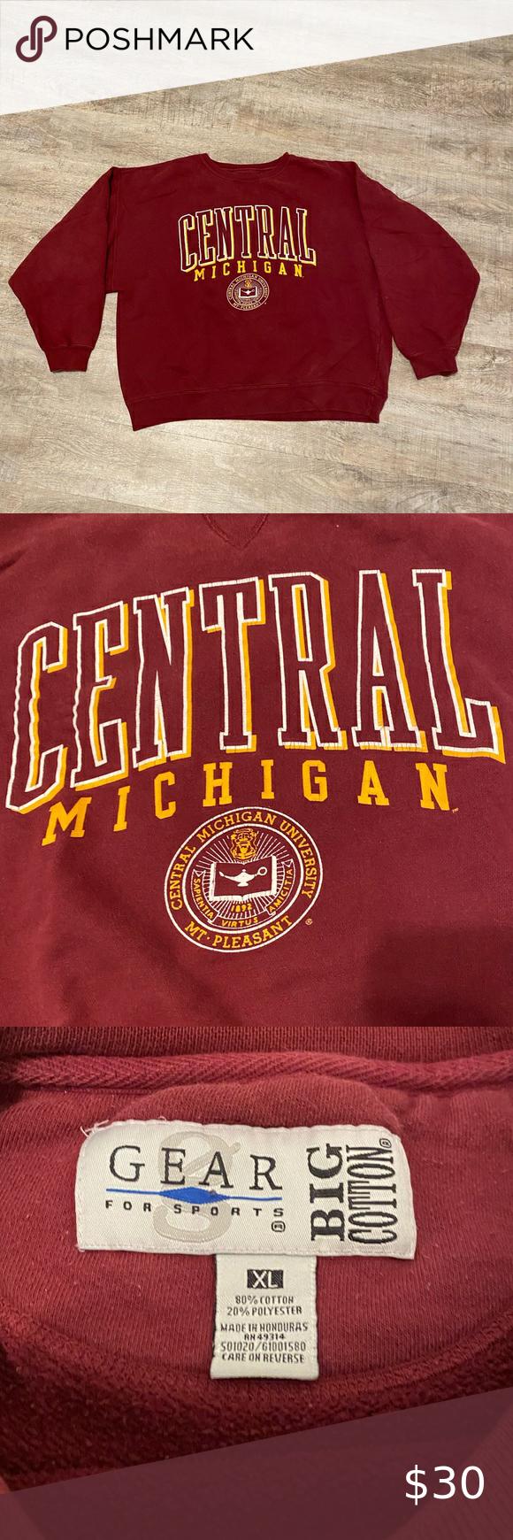 Gear For Sports Central Michigan Sweatshirt Central Michigan University Vintage 90 S Crewneck Sweatshirt Lig Michigan Sweatshirt Sweatshirts Sweatshirt Shirt [ 1740 x 580 Pixel ]