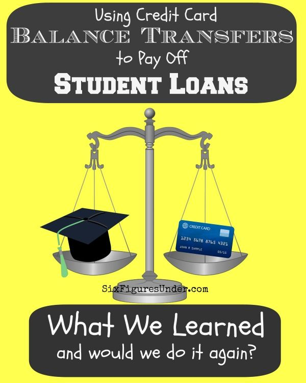 We Used A Credit Card Balance Transfer To Pay Off 11 000 Of Federal Student Loans Would We Do Credit Card Balance Paying Off Student Loans Student Loan Debt