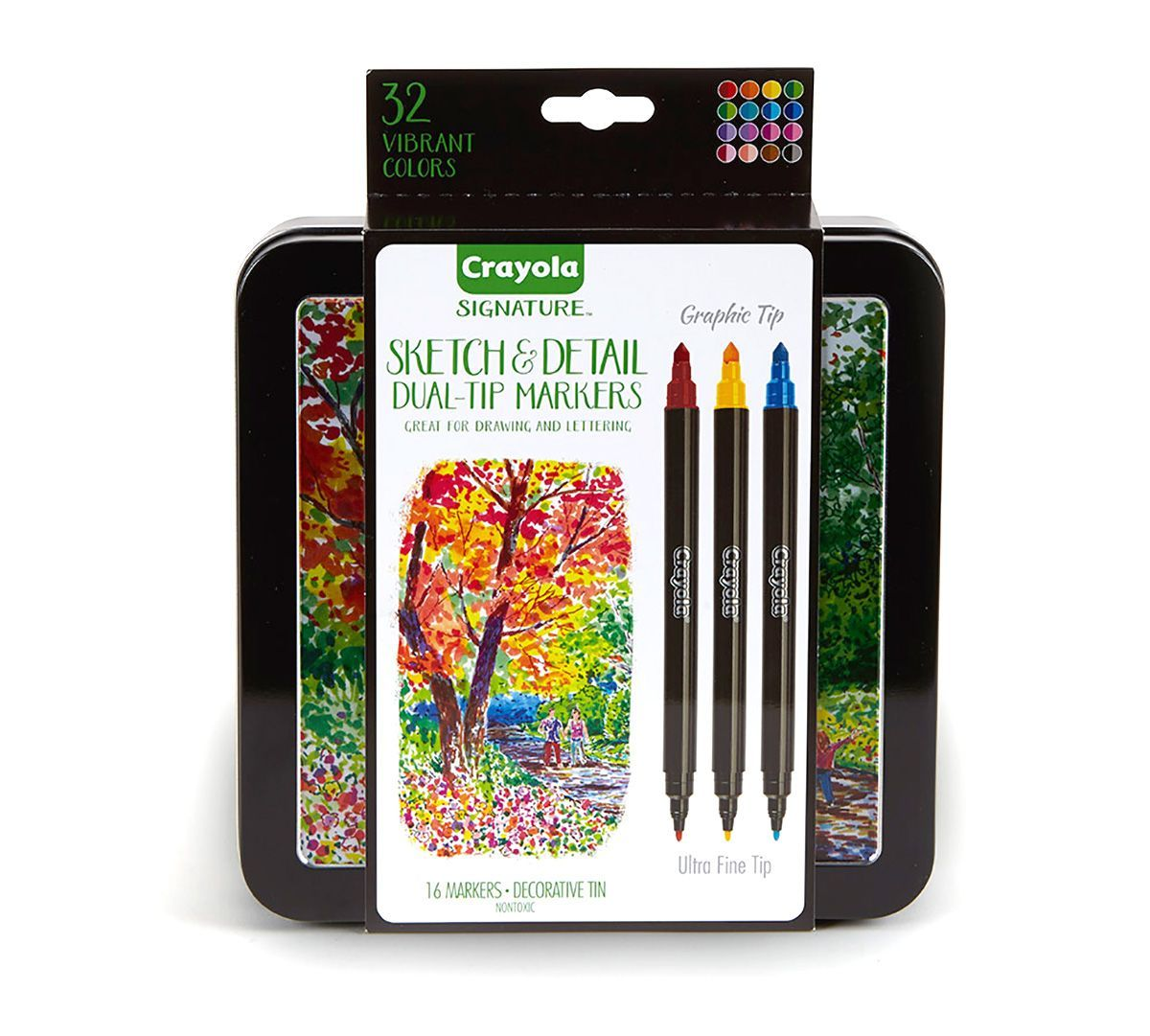 Signature Sketch Detail Dual Ended Markers 16 Count I