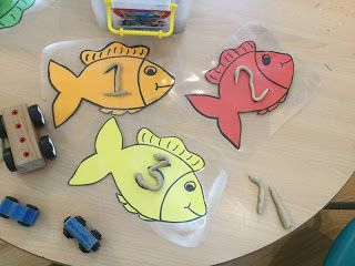Learning with Little cherubs: Play dough and numbers