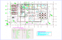 Banking agency plan with drain line and drain legend view