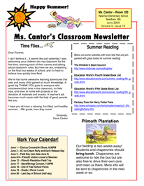 Blog With Links To Websites With Classroom Newsletter Templates