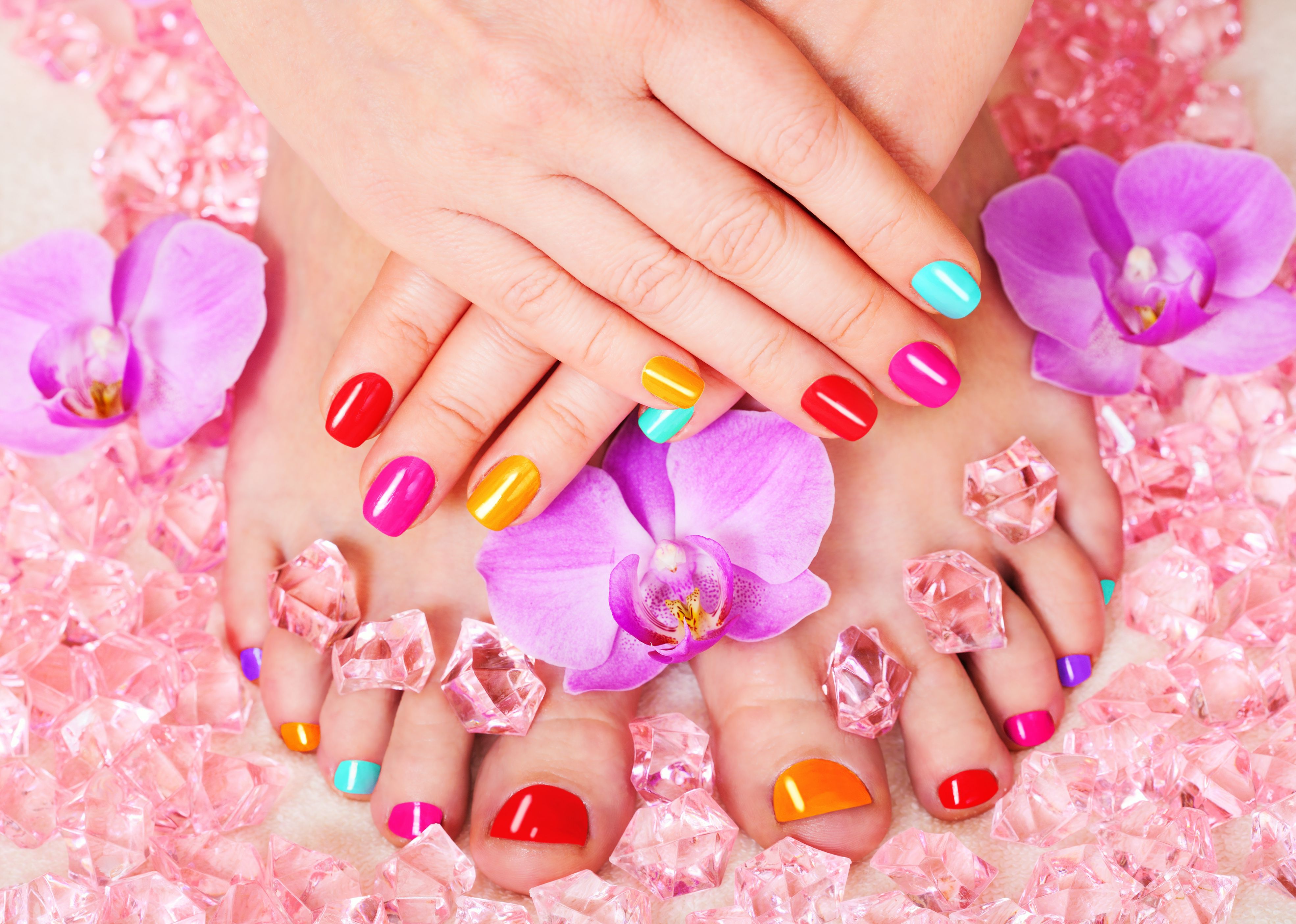 Beautiful Manicure And Pedicure Poster Id F74478460 Manicure And Pedicure Manicure Painted Toe Nails