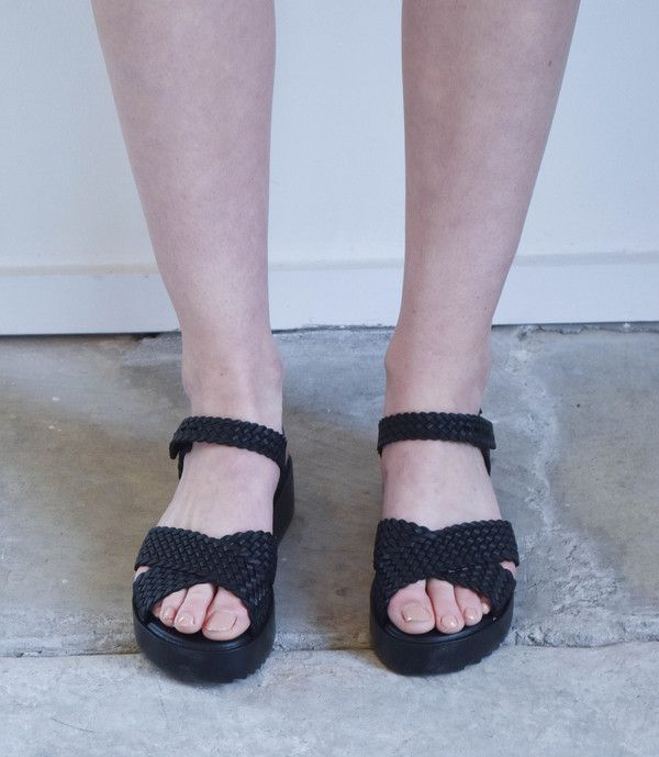 d6cc246c81 Melissa Hotness + Salinas Sandals in Black | life stuff | Sandals ...