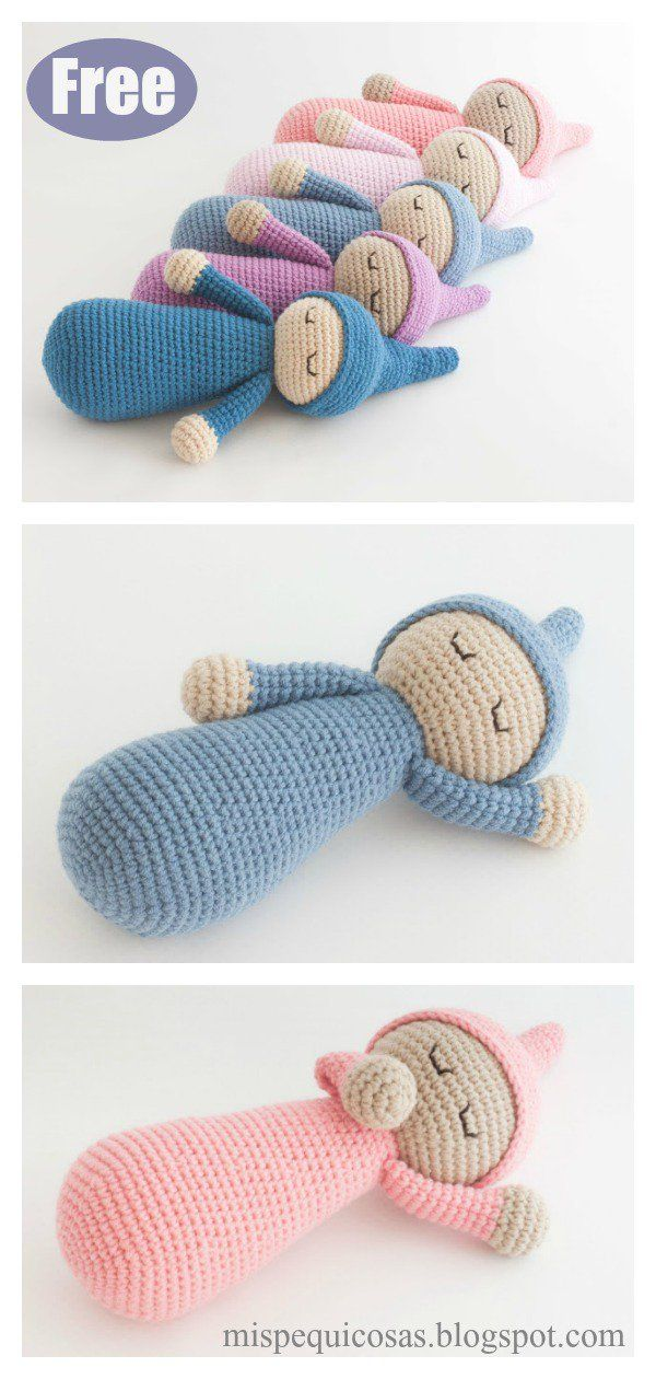 Sleepy Doll Amigurumi Free Crochet Pattern and Video Tutorial #crochetamigurumifreepatterns