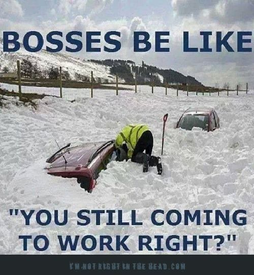 Haha Actually No They Said Stay Home Besides If The Snow Plow