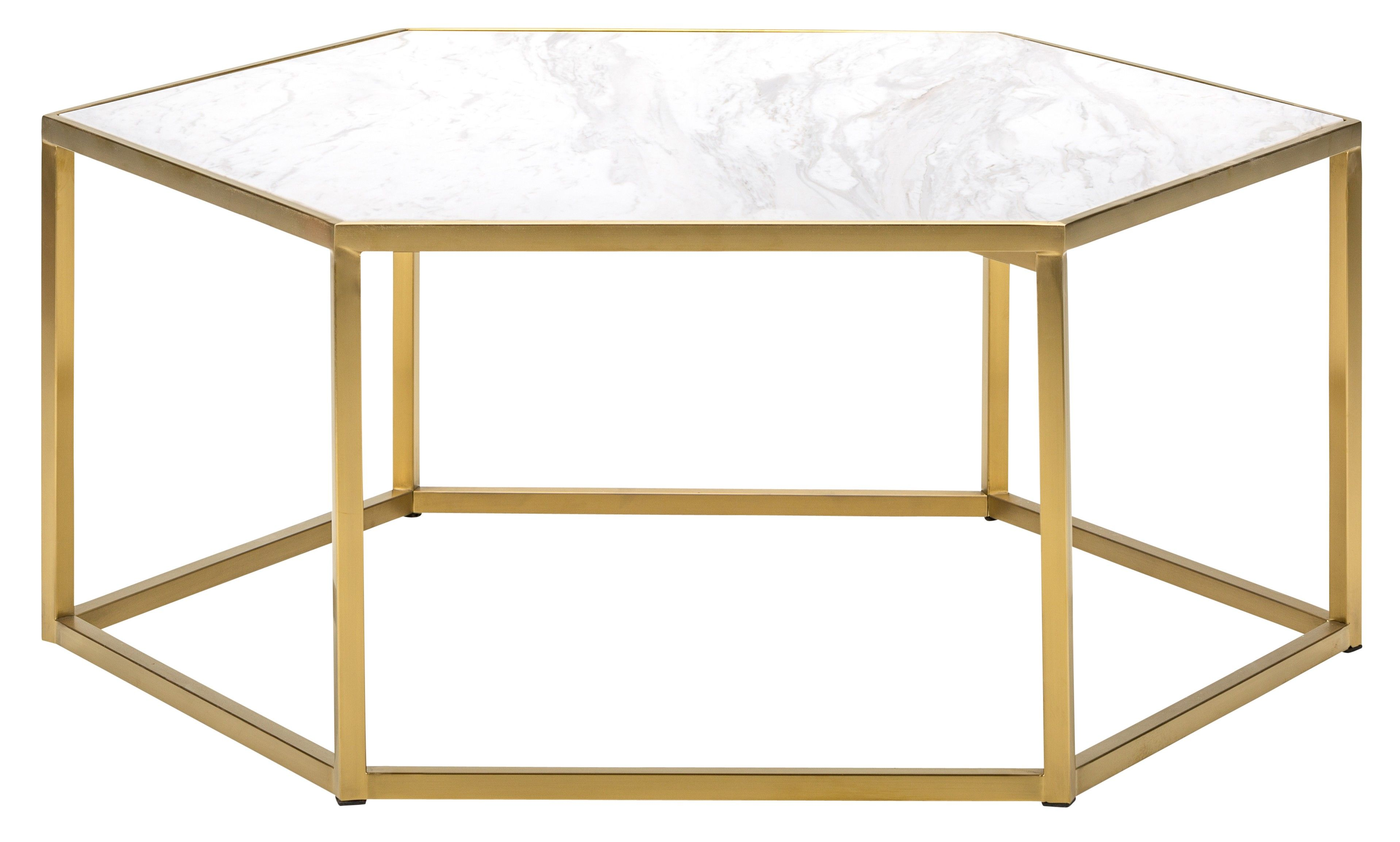 We Can T Stop Obsessing Over The Marble Top Of The Carling Coffee Table Complemented By The Pretty Gold Bas Stone Coffee Table Coffee Table Living Room Leather