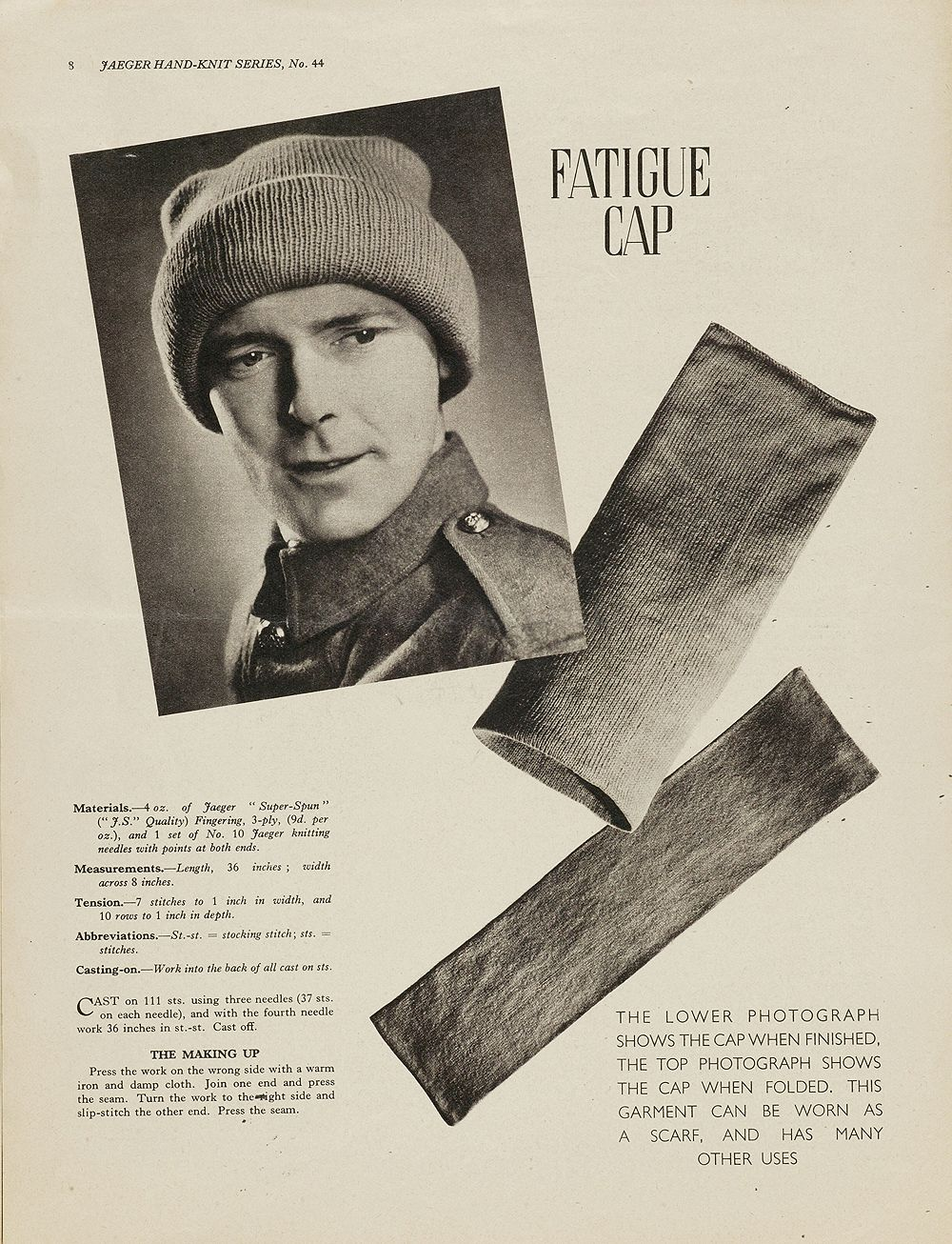 HATSCARF! 1940s Knitting Patterns - Victoria and Albert Museum ...