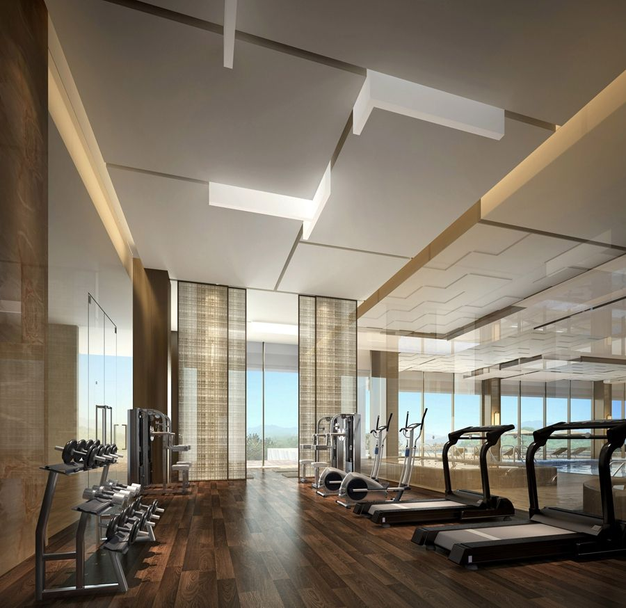 Gym Interior Fitness Design And: Pin By Kelly Gin On ID
