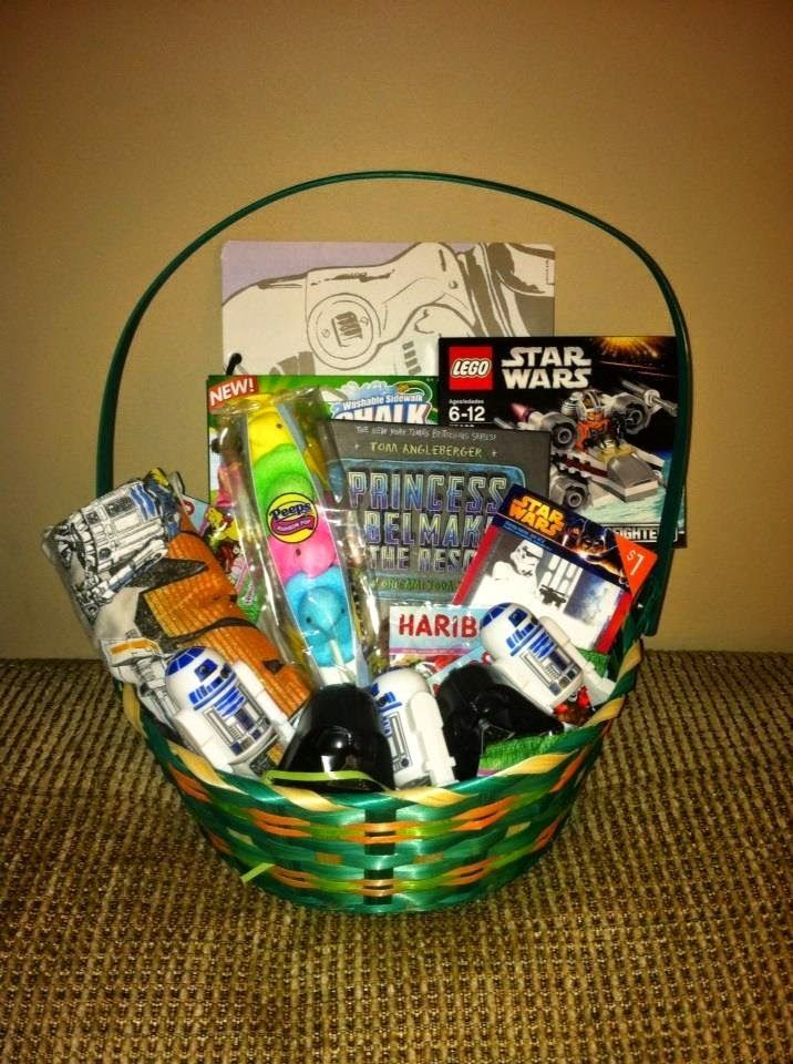 The perfect easter basket for your star wars fan appreciation raising scotty perfect star wars easter basket for year old boys negle Gallery