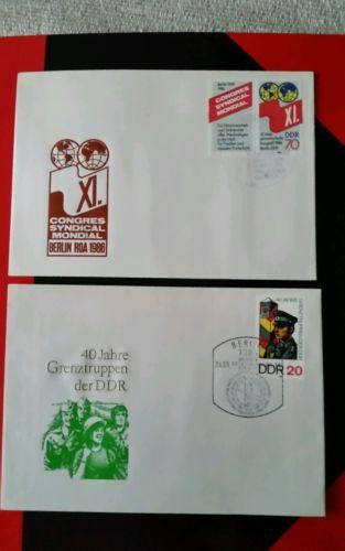 Ersttagsbriefe mit Briefmarken aus DDR Zeiten (13)sparen25