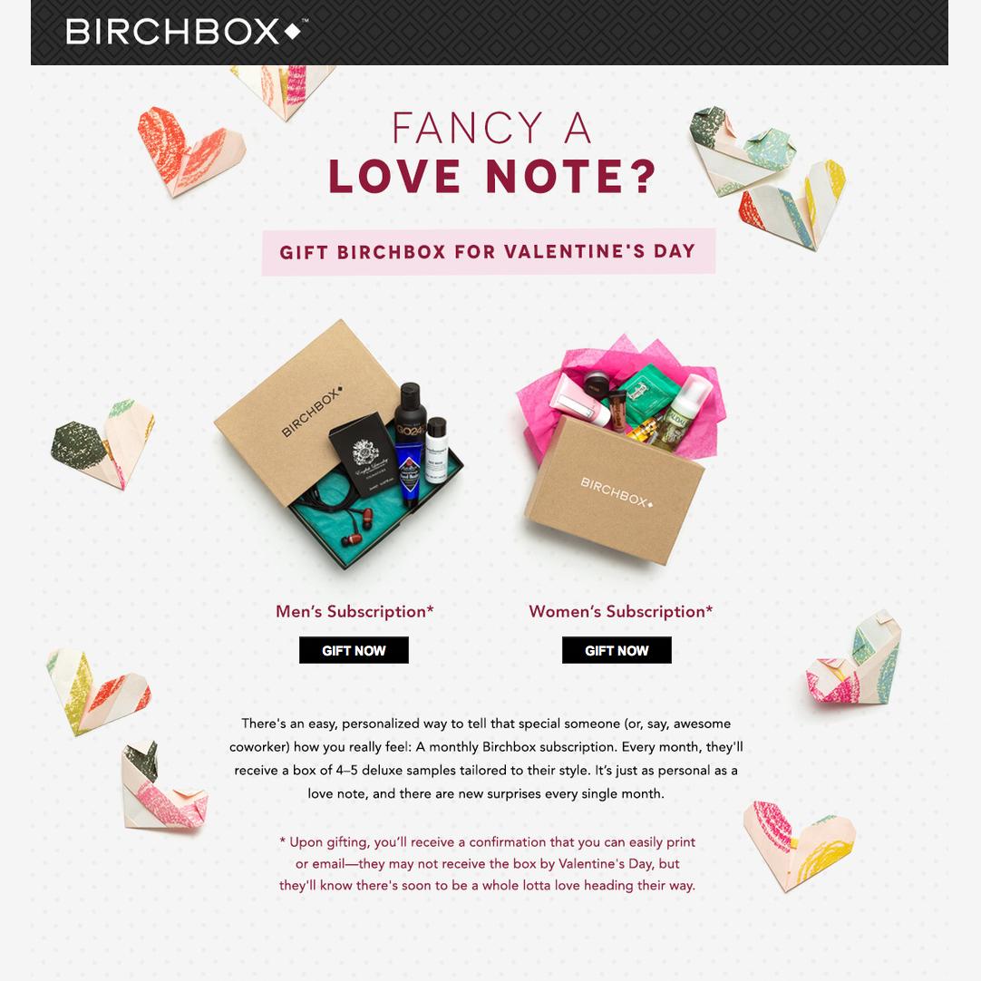 Birchbox Landing Page Valentines Inspiration Funny Valentine