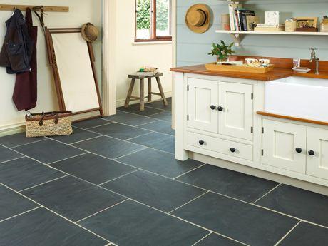 Really Like This Floor Tile Slate Kitchen Slate Floor Kitchen Black Slate Tiles