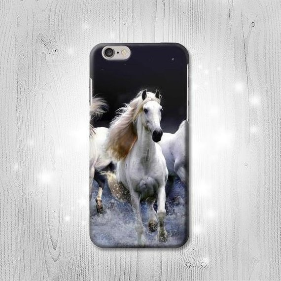 White Horse Hard & Leather Flip Case iPhone 11 12 Pro Max Samsung Galaxy S21 Note A71 A50 A51 A20 A21s Google Pixel