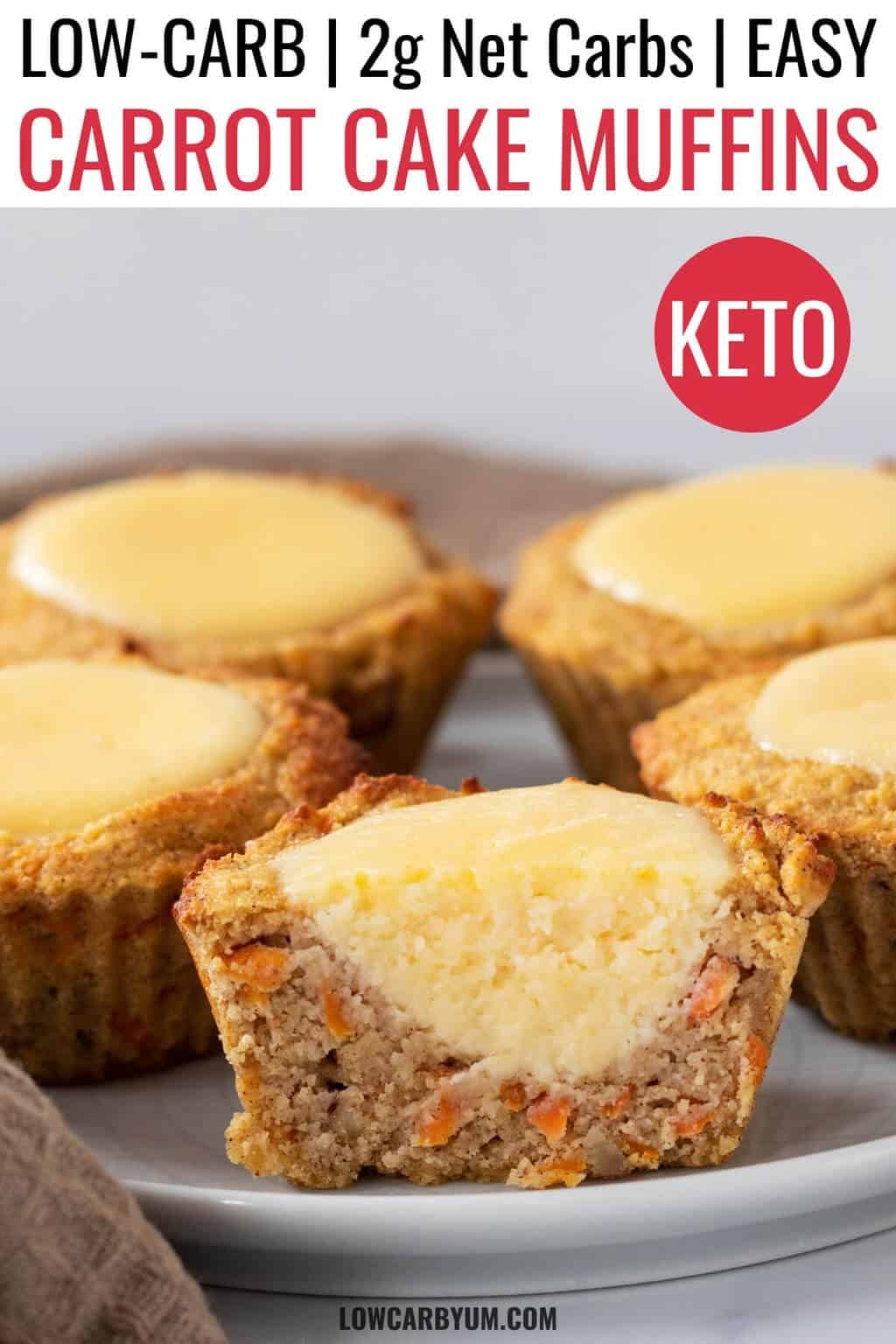 Keto Carrot Cake Muffins with Cream Cheese Filling