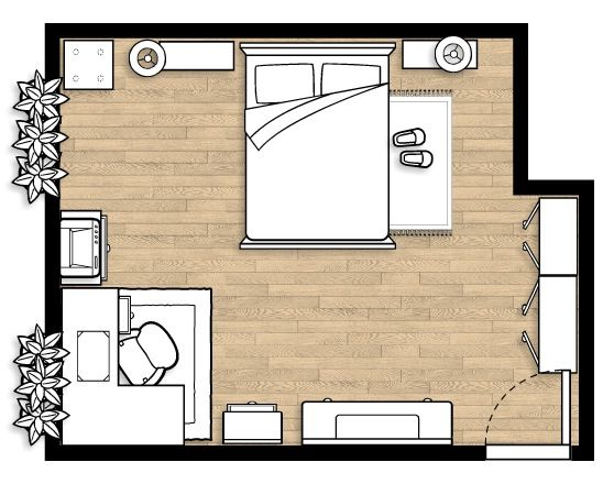 Pin By Ladymisskrysta On Home Small Bedroom Layout Bedroom Arrangement Master Bedroom Layout